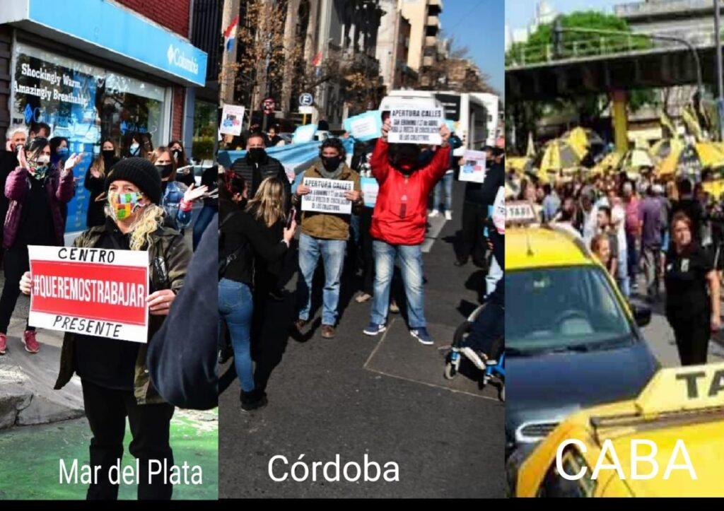 Jornada de protestas en varios puntos del país
