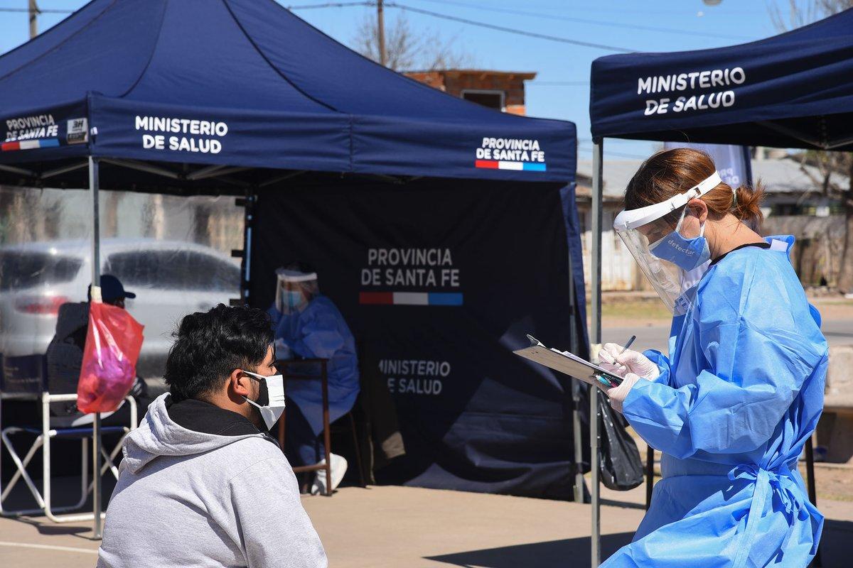 Coronavirus: Este viernes Santa Fe fue el segundo distrito con más casos después de provincia de Buenos Aires