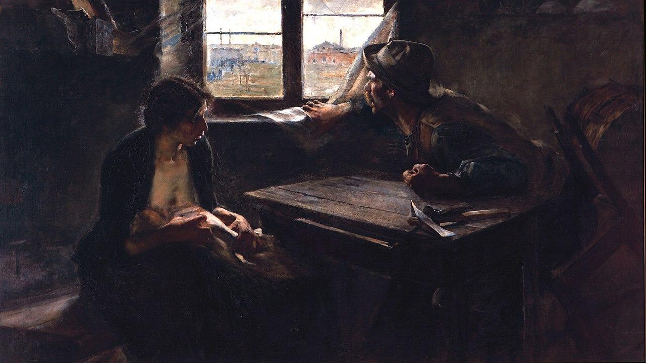 Sin pan y sin trabajo, de Ernesto De la Cárcova