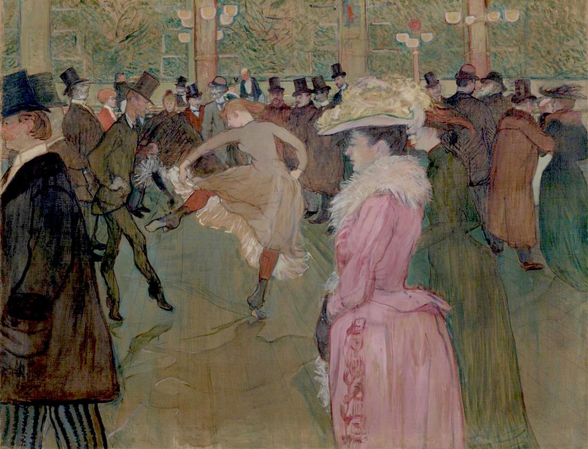 En el Moulin Rouge: el baile, de Henri Toulouse-Lautrec