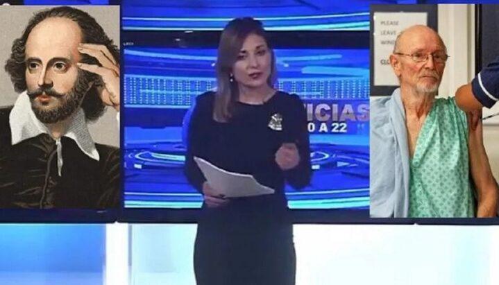 Noticia viral: conductora de Canal 26 confundió al escritor William Shakespeare con un hombre fallecido recientemente