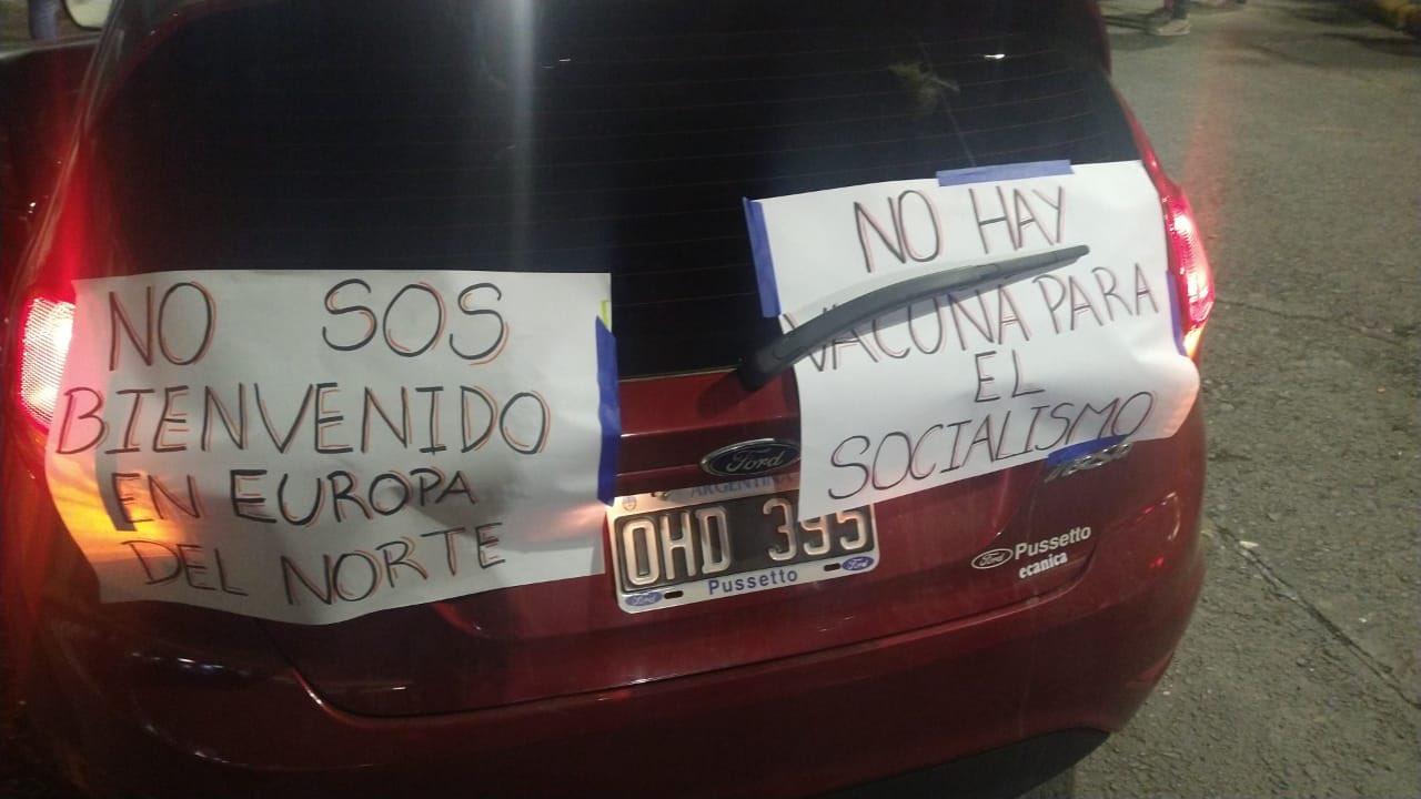 Salteños se manifiestan contra la visita del Presidente Alberto Fernández